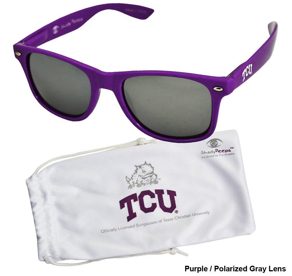 NCAA TCU Horned Frogs TCU-1 Purple Frame Purple Society43 Silver Lens Sunglasses One Size
