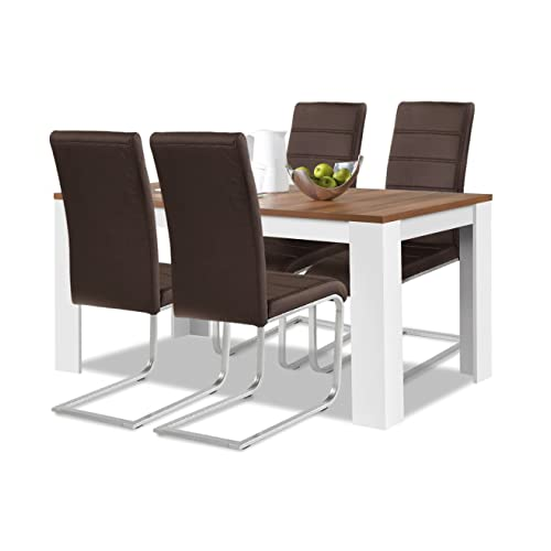 Esstisch Coavas Rund Küchentisch Modern Büro: Esstische Und Stühle: Amazon.de