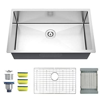 ARJOR Undermount Kitchen sink 27-Inch Stainless Steel Kitchen ... on pedestal sinks product, glass sinks product, franke kitchen sinks product, bathroom sinks product, farmhouse sink product, kohler kitchen sinks product, blanco kitchen sinks product, small kitchen sinks product, composite sinks product, copper sinks product, drop-in sinks product, apron kitchen sink product, elkay sinks product, black kitchen sinks product, stainless steel sinks product, utility sinks product, granite sinks product, kitchen accessories product, ceramic sinks product, apron front sinks product,