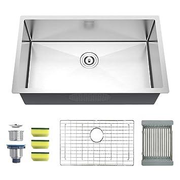 Mensarjor Undermount Kitchen Sink 30 Inch Stainless Steel Kitchen Sink