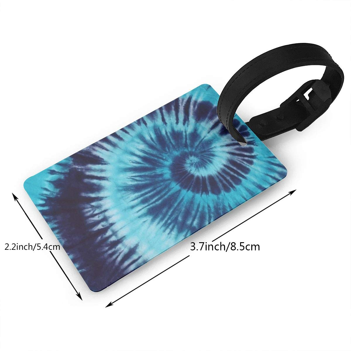 Blue Tie Dye2 Cruise Luggage Tag For Suitcase Bag Accessories 2 Pack Luggage Tags
