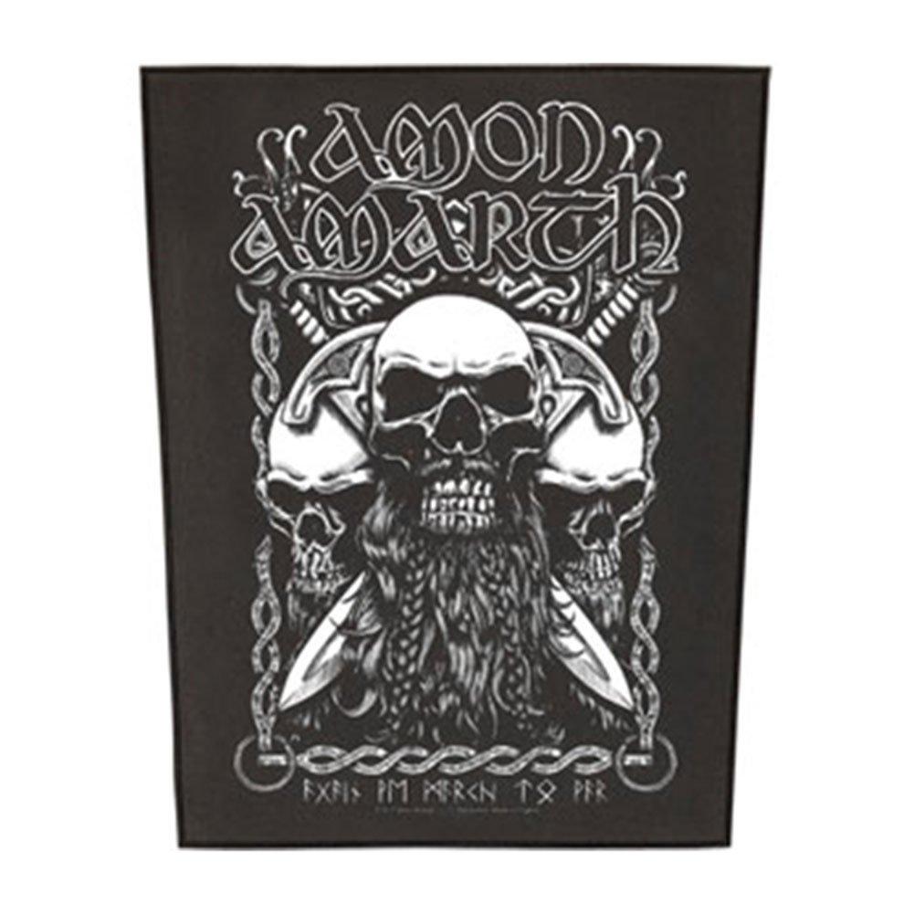 Amon Amarth Bearded Skulls Backpatch Mehrfarbig
