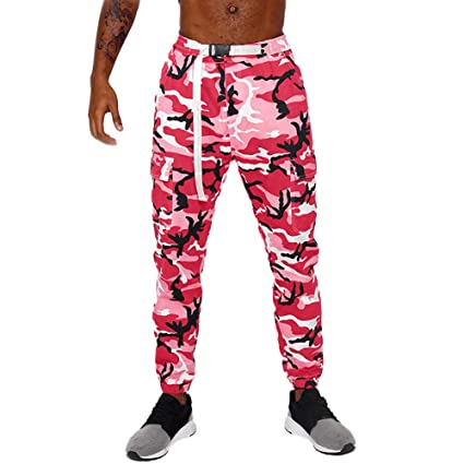 3ea0867d61 Allywit Camouflage Jogger Pants for Men Casual Sweatpants Active ...