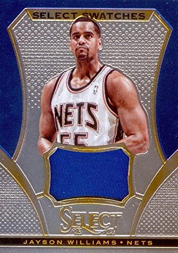 detailed look 46c81 5f7ab Jayson Williams player worn jersey patch basketball card ...