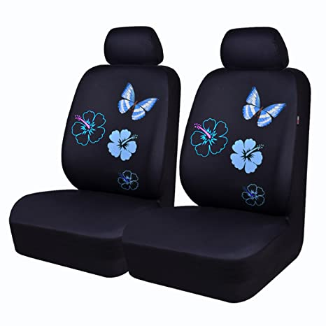 CAR PASS NEW ARRIVAL Flower And Butterfly Universal Car Seat CoversPerfect Fit Suvs