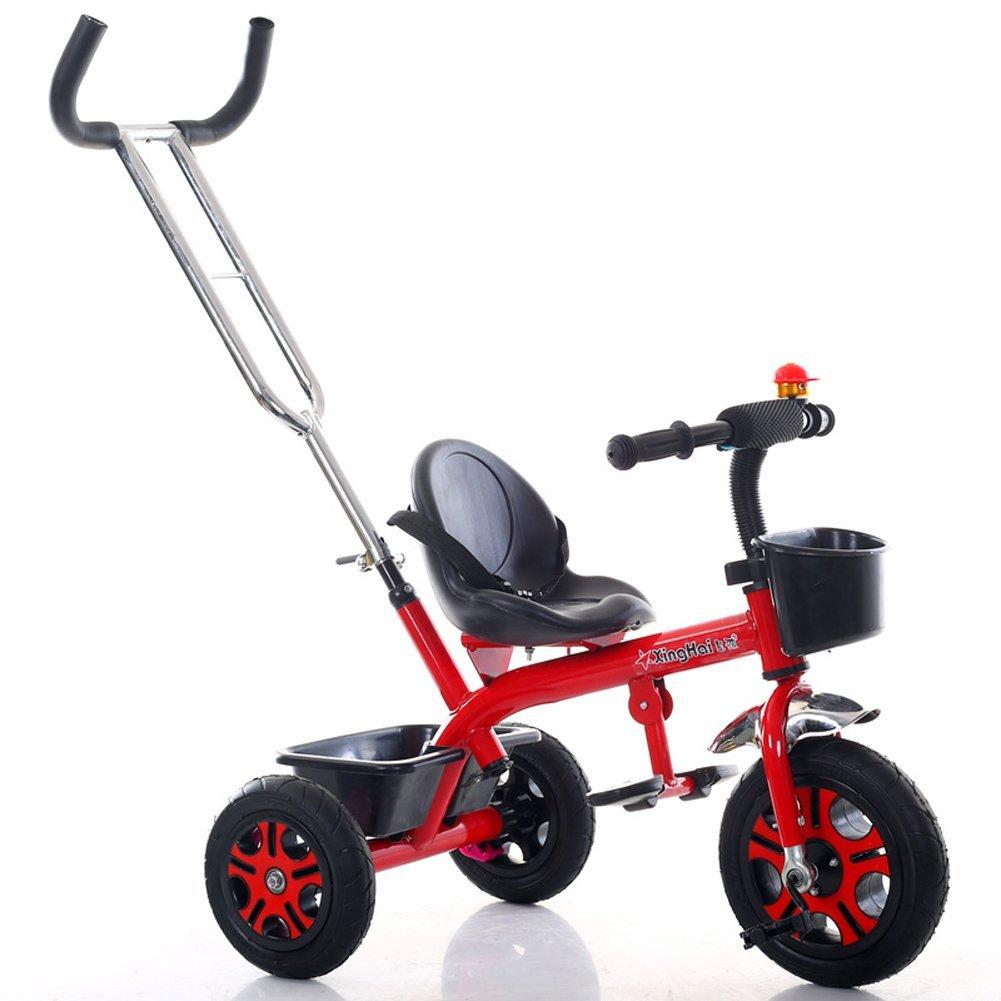 ventas de salida Bicicletas para niños Guo Shop- Triciclo Ligero Ligero Ligero para niños 1-3-6 años Carruaje para bebés Niños y niñas Bicicletas Cochecito para bebés con Putter (Color : Red)  la mejor selección de