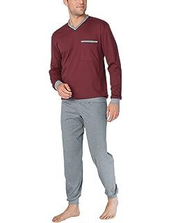 222d02148a Calida Zweiteiliger Schlafanzug George Herren Pyjama mit Bündchen ...