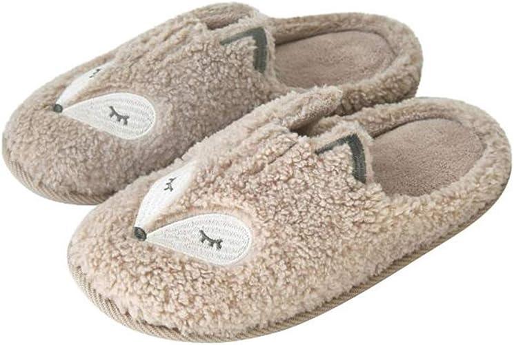 Anti-Slip Cotone Pantofole Da Uomo Da Donna PU Pelle Inverno Paio caldo casa indoor