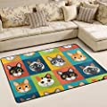 ALAZA Super Comfortable Anti-slip Cute Cats Area Rugs/Floor Mat/Cover Carpets with Small Amount of Memory Foam for Living Room/bedroom/Dining/Kids/Home Decorate 3 x 2 Feet