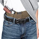 (US) Hidden Agenda Belly Band Holster by Relentless Tactical - Concealed Carry Holster fits All Handguns - Made in USA | O.D. Green with Zipper - XL