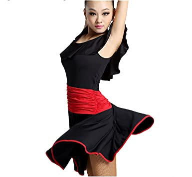 Latin dance dress Tango dress Cha Cha dress Ballroom skirt black S