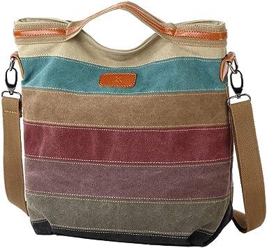 Bolso multicolor del bolso de Crossbody del bolso de Crossbody del bolso de hombro de la lona de las mujeres Bolso multicolor del totalizador