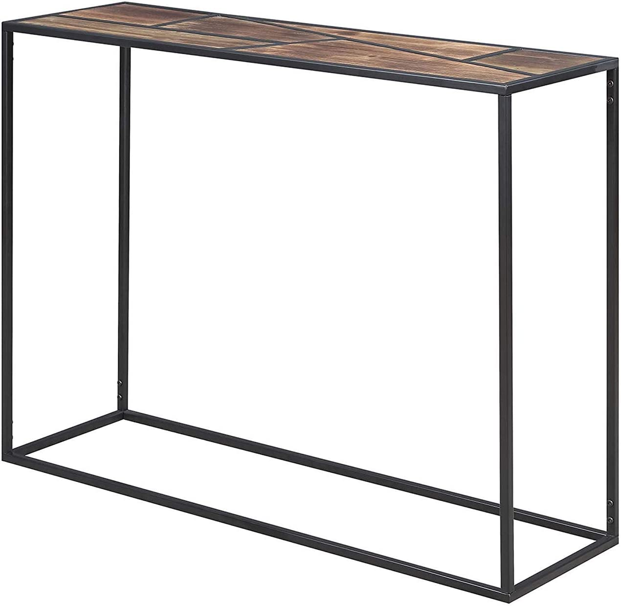 Convenience Concepts Geo Console Table, Wood Top / Black Frame