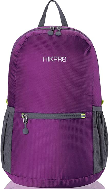 The Most Durable Lightweight Packable Backpack HIKPRO 20L Water Resistant For