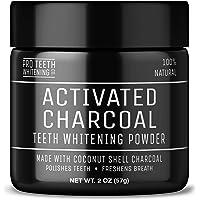Activated Charcoal Teeth Whitening Poeder - Actieve Kool Poeder voor Natural Tanden Bleken met Pepermuntsmaak…