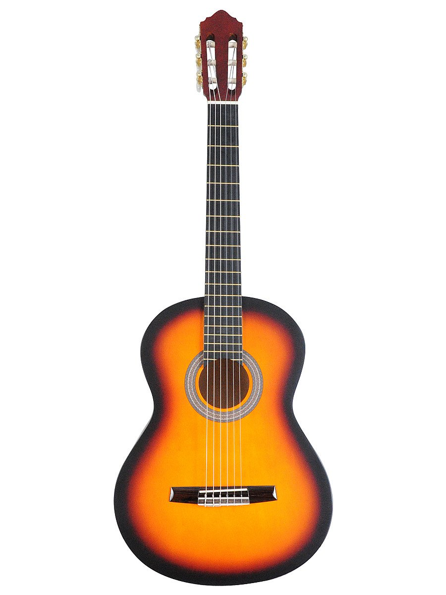 ADM JC113-SB 39'' Full Size Entry Level Classical Guitar Package, Sunburst Matte by ADM (Image #4)