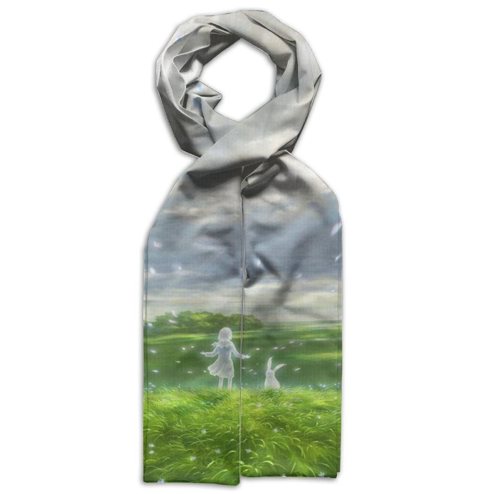 Magical Girl And Rabbit Printing Scarf Warm Soft Fashion Scarf Shawl For Kids Boys Girls