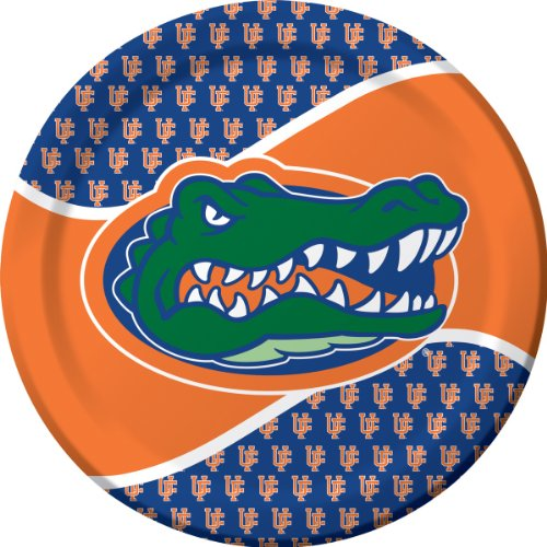 Florida Gator Football Bowl (Creative Converting Florida Gators Dinner Paper Plates (8 Count))