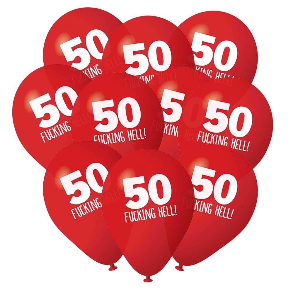 Amazon.com: Paquete de 10 globos de 50 cumpleaños ...