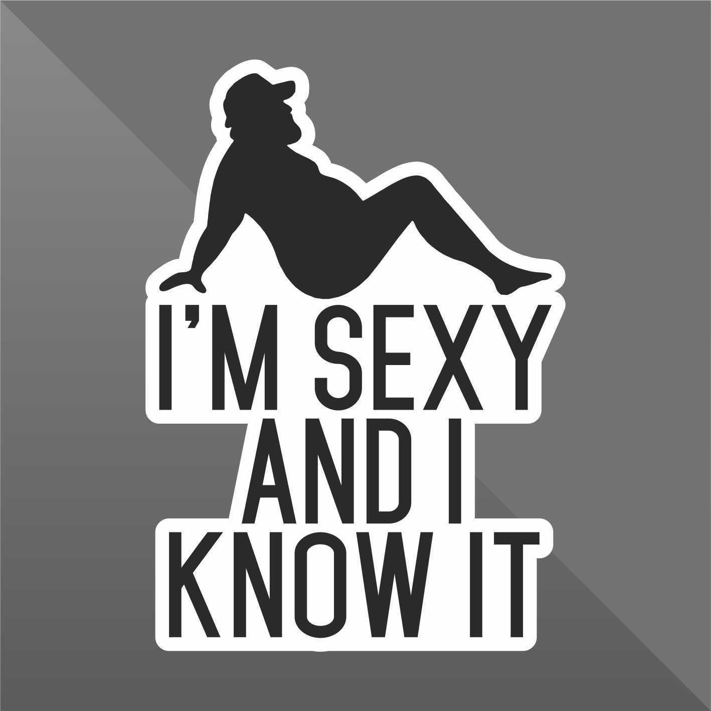 Erreinge Sticker Im Sexy And I Know It Funny Decal Cars