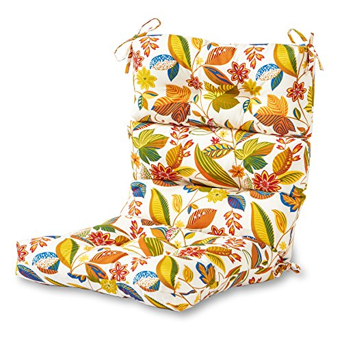 Redwood Patio Furniture Cushions - Greendale Home Fashions Indoor/Outdoor High Back Chair Cushion, Esprit Multi