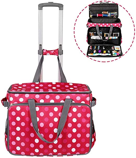 biteatey Red Dot Sewing Machine Trolley Bag Bolsa de máquina de ...