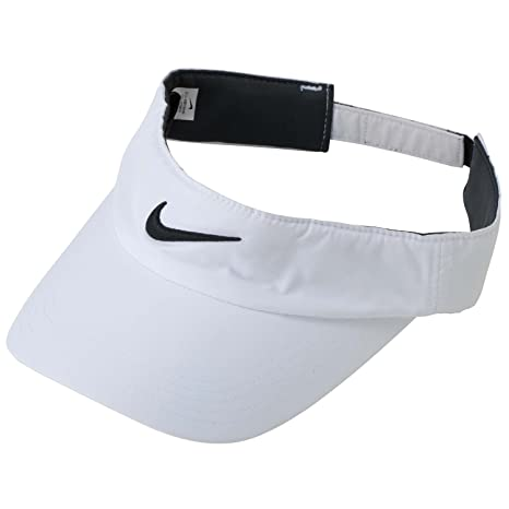 Amazon.com   Nike Golf Tech Visor (White Black)   Visors Headwear ... 3e39fbc28