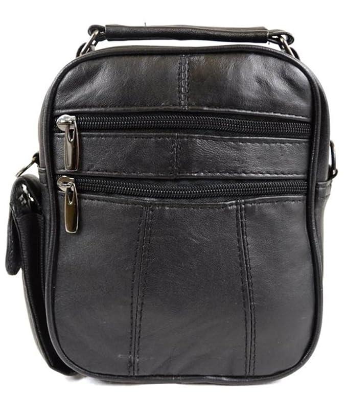 Ultra pratique pour homme/femme en cuir souple Nappa épaule/sac de voyage/de transport avec bandoulière amovible AyVVw