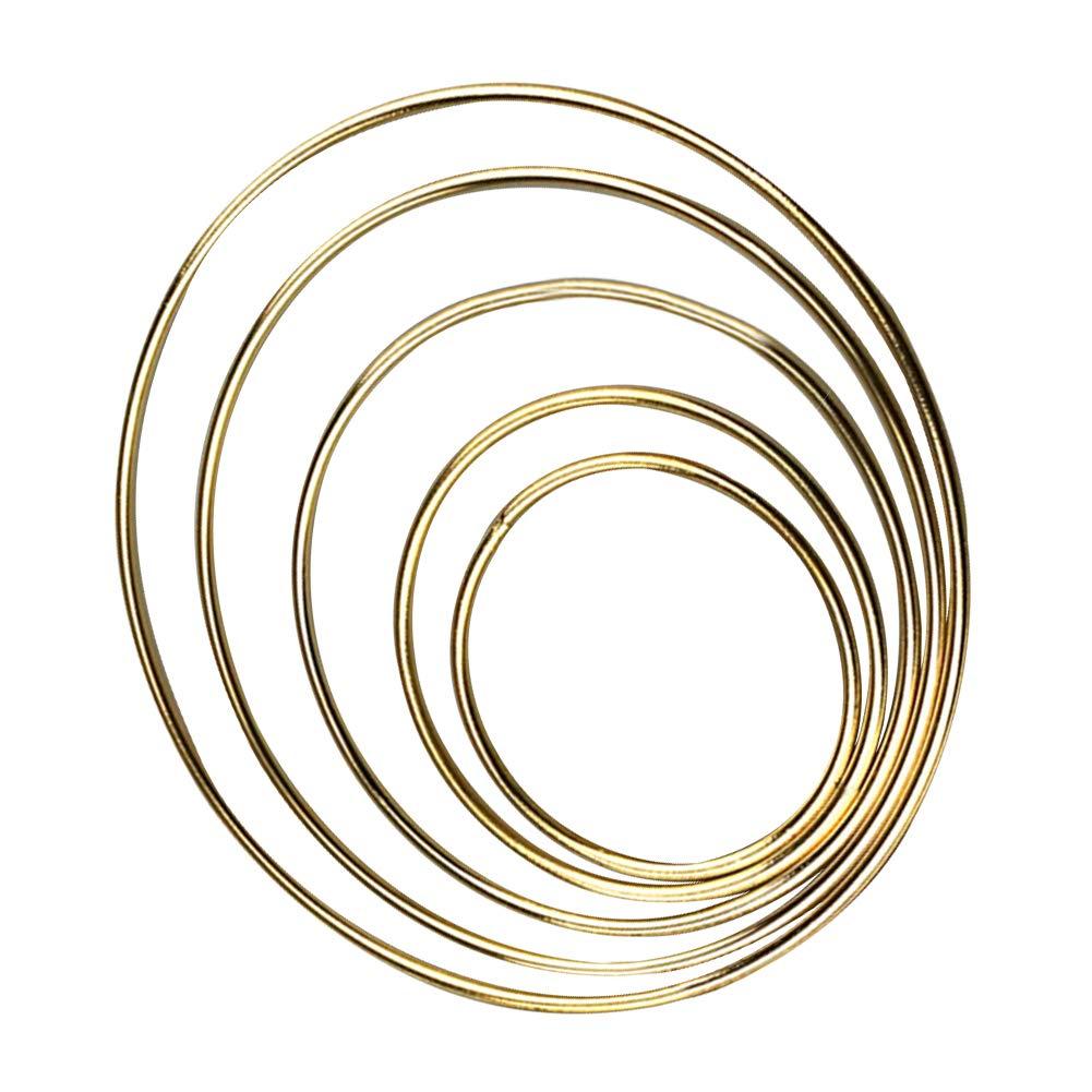 Paquete de 5 aros de metal para atrapasue/ños de omufipw 7 tama/ños a elegir 50 mm dorado