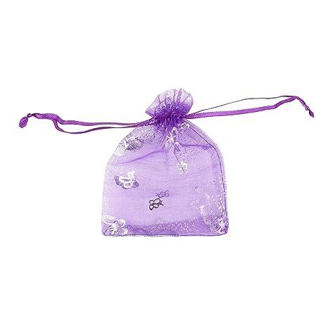 100pcs Mixed Butterfly cordón bolsas de bolsitas de Organza ...