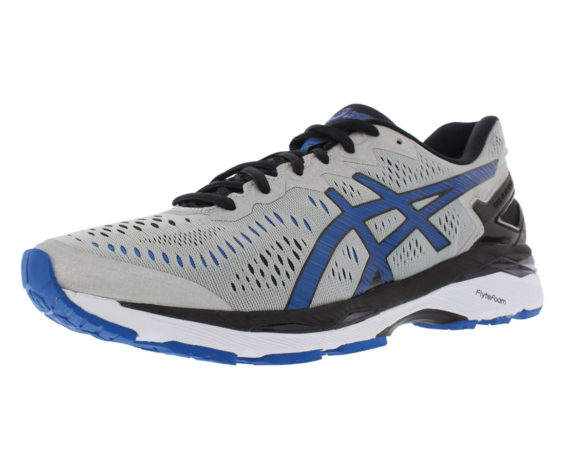 ASICS Men's Gel-Kayano 23 Running Shoe, Silver/Imperial/Black, 10 M US