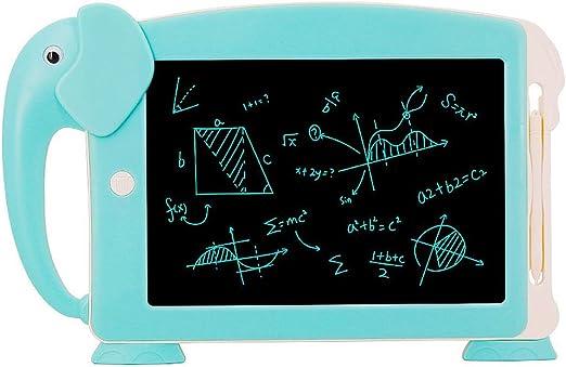 SNOWINSPRING 10.5インチのLCDライティングタブレット、デジタル電子描画ライティングボード、描画タブレット、落書きパッド、6枚のカード(青色)