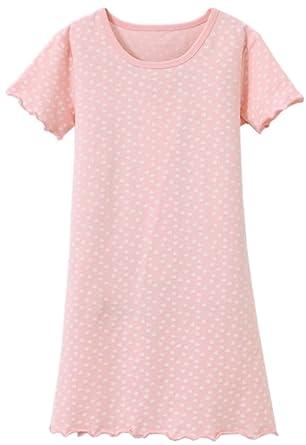 gatto Camicie da notte bambine e ragazze cotone biancheria da notte rosa 4-9 anni