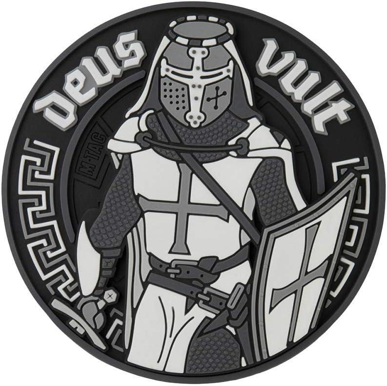 М-Tac Deus Vult Cruzado PVC 3D Moral Parche de Velcro Militares y ...