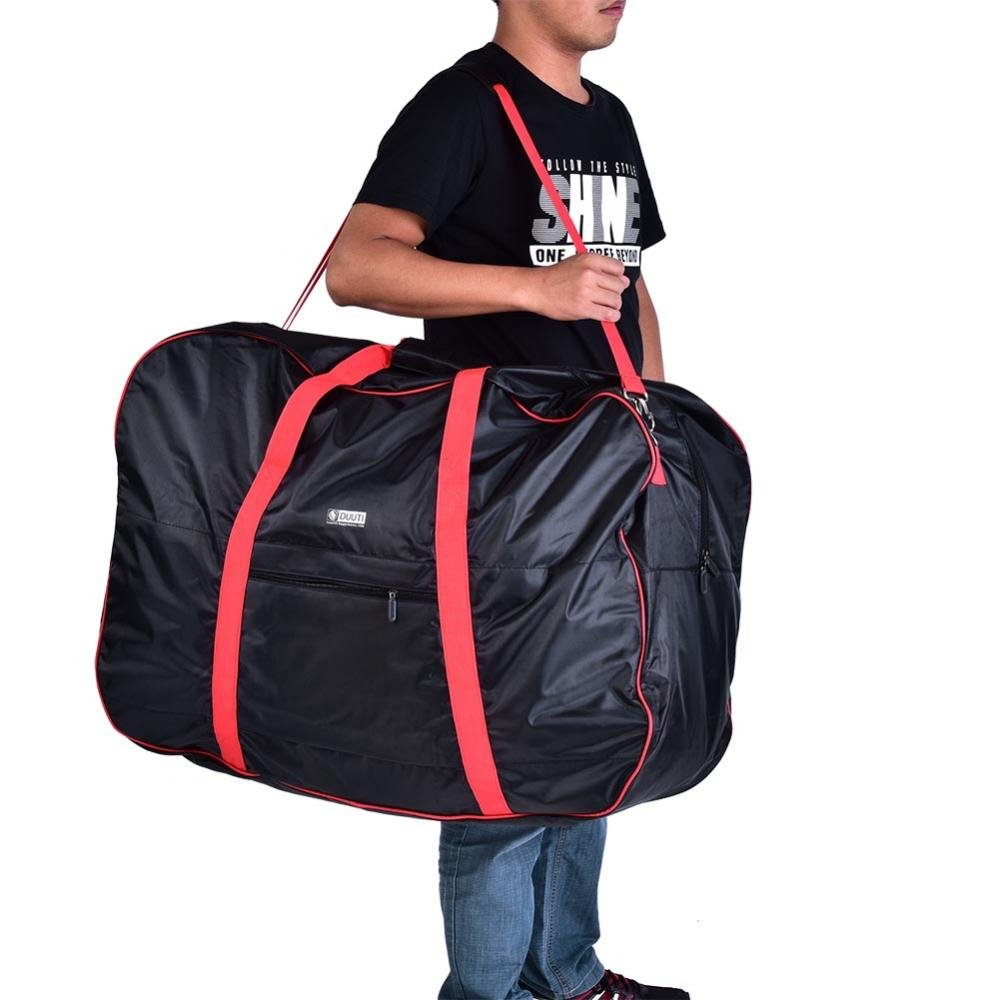 Dilwe Bicycle Carry Bag, Portable Folding 2 Sizes Transport Cover Carrying Case for 14-20in Bikes with Shoulder Strap by Dilwe (Image #8)