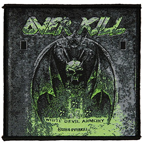 OVERKILL - Patch Aufnäher - White devil armory 10x10cm
