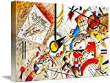 Gallery-Wrapped Canvas entitled 'Bustling Aquarelle, c.1923 By Wassily Kandinsky'. Multiple sizes available. Primary colors within this image include: beautiful tones sure to enhance your space. Made in USA. Satisfaction guaranteed. Inks used are lat...