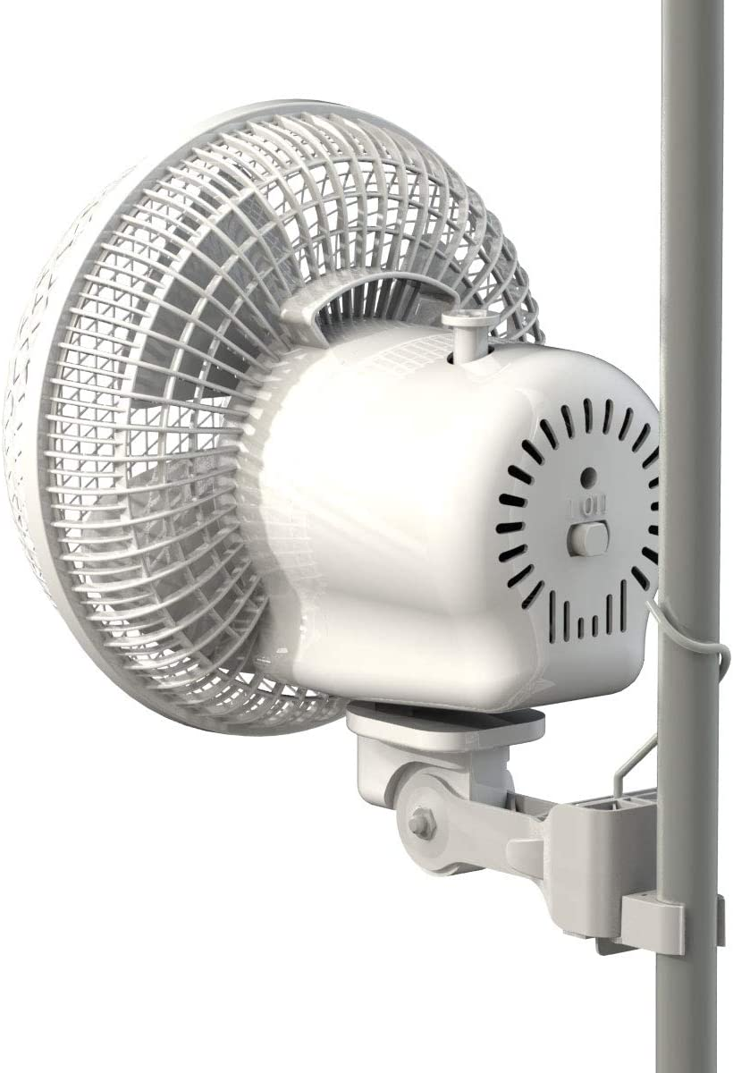 Ventilador oscilante con clip pinza 17cm 20W Secret Jardin (Monkey ...
