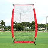 Sizet Baseball & Softball I-Screen Pitching Practice Net with Frame and Carry Bag