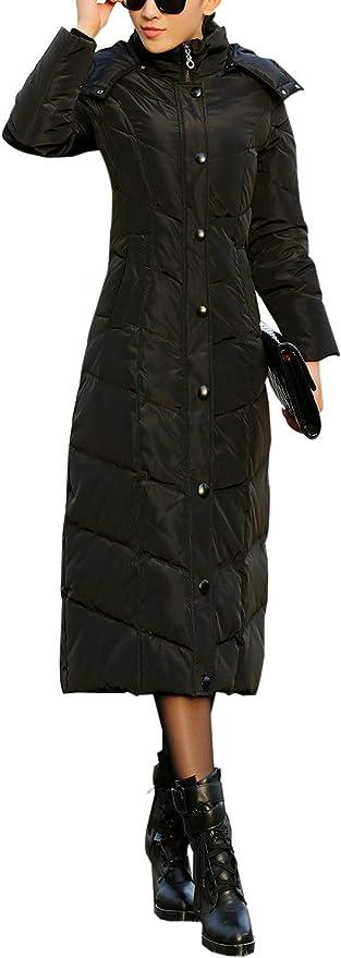 Gihuo Womens Hooded Maxi Down Coat