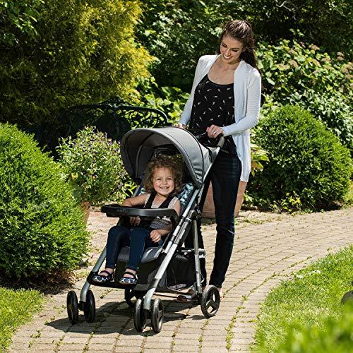 61lbRA0w8kL - Evenflo Vive Travel System With Embrace Infant Car Seat, Spearmint Spree