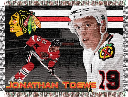 The Northwest Company NHL Jonathan Toews Licensed Tapestry Woven Throw, One Size, Multicolor -