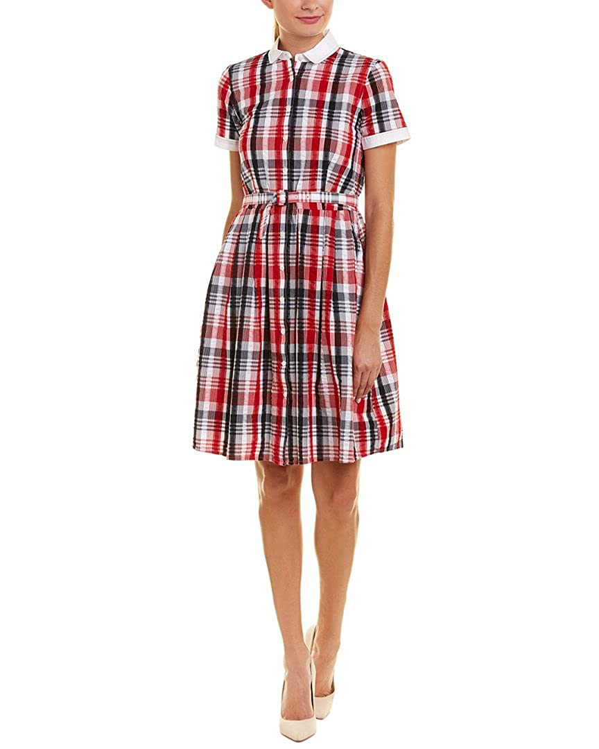 bc69eb18aa Brooks Brothers Womens Shirtdress, 6, Red at Amazon Women's Clothing store: