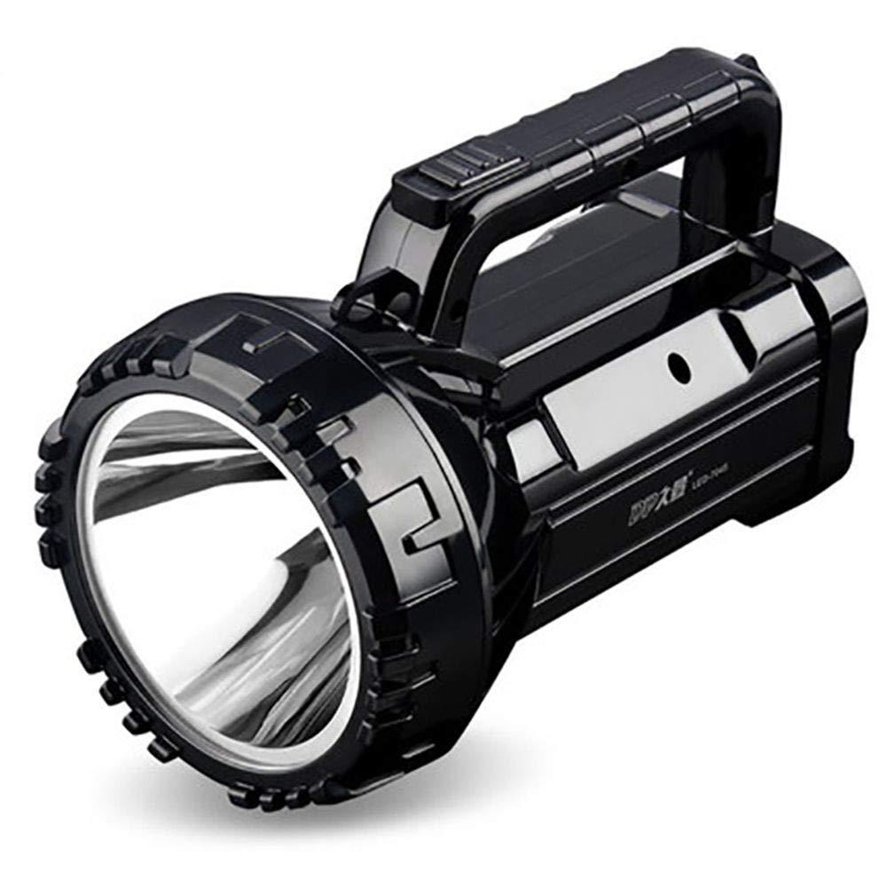OKMNJIUBH Searchlight 2018 geführte Starke helle Taschenlampe, Wieder Aufladbare super helle Reflektor-Patrouille im Freien Multi Funktion Tragbare Miner's Lampe