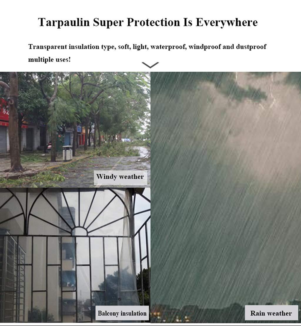Impermeable De Tela Impermeable De Protecci/ón Solar Lona Cortinas Balc/ón del Parabrisas del Coche del Poncho Sala 450G M/²,3M*3M QMMD Las Lonas Transparentes 0,5 Mm De Grosor De Lona De PVC