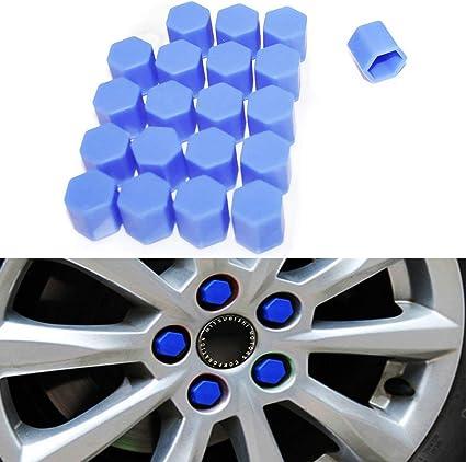 tuercas tornillos y cubiertas de /óxido tuercas tuercas color rojo 20 tapones de silicona para rueda de coche 17 mm pernos