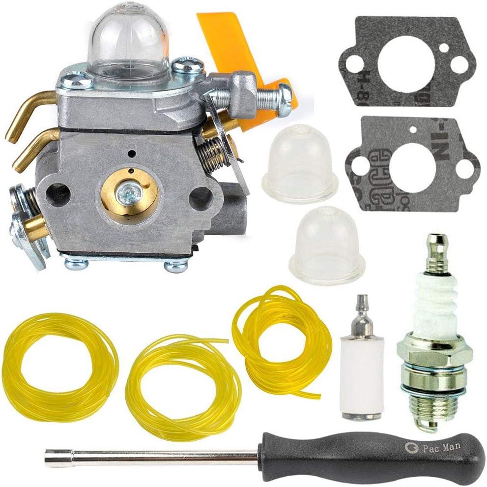 TOPEMAI C1U-H60 Carburetor Replace 308054013 308054077 308054003 985624001,for Ryobi 30cc 26cc 25cc RY28141 RY30120 RY28100, Homelite UT33600A UT33600 UT33650 String Trimmer