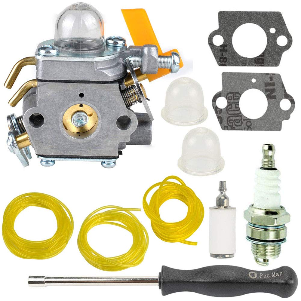 TOPEMAI C1U-H60 Carburetor Replace 308054013 308054077 308054003 985624001,for Ryobi 30cc 26cc 25cc RY28141 RY30120 RY28100, Homelite UT33600A UT33600 UT33650 String Trimmer by TOPEMAI