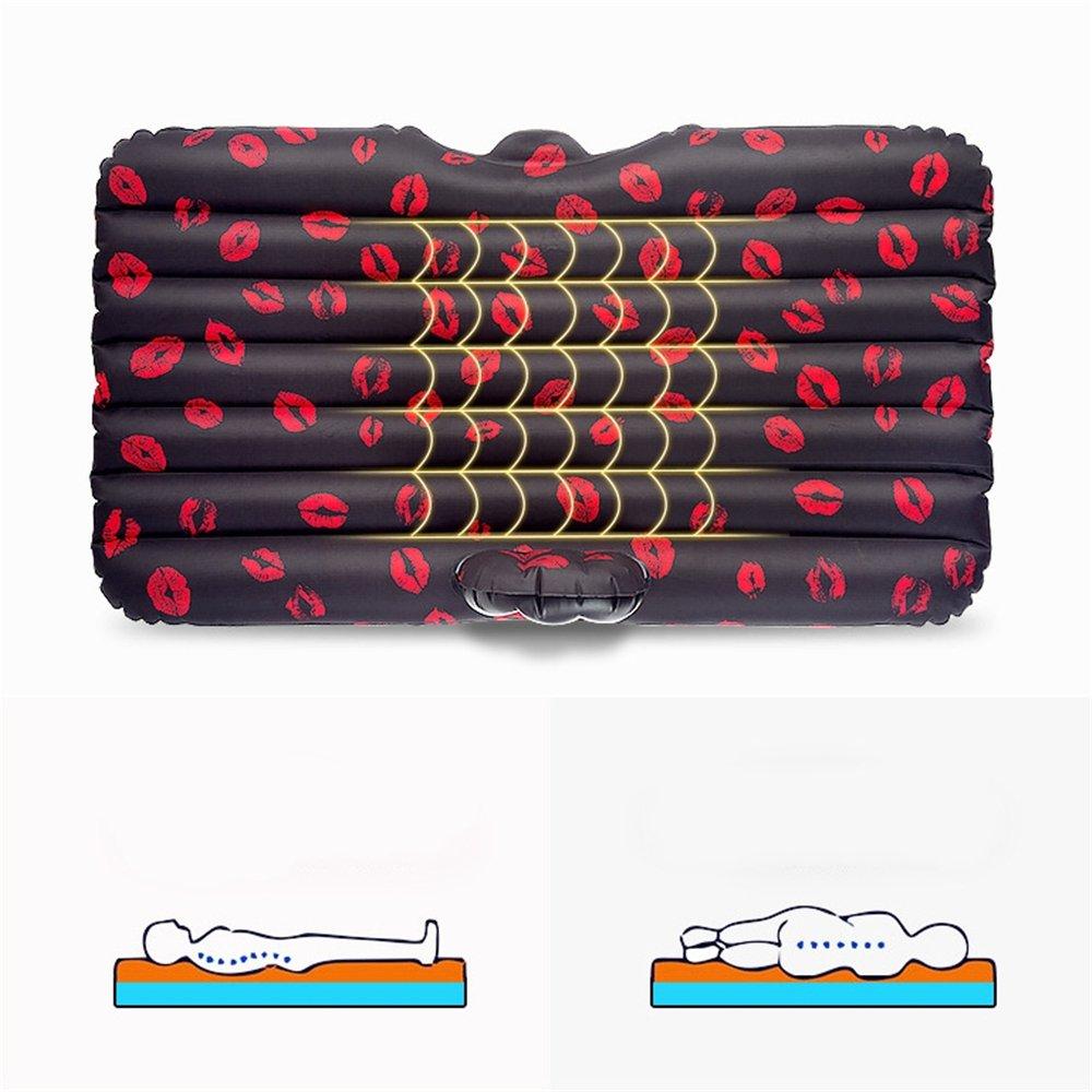 Penao Aufblasbare autobett, aufblasbares Bett, Rote Lippen Lippen Lippen Muster Reisebett aufgeteilt B07FYCXMYR Luftmatratzen Sehr gelobt und vom Publikum der Verbraucher geschätzt c64d73