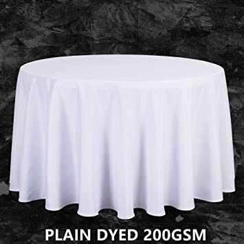 Big Size Polyester White Round Table Cloth Wedding Tablecloth Party Table  Cover Square Dining Table Linen